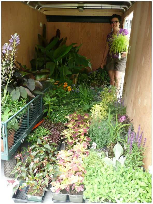 Loading up trailer for a Container Garden Party