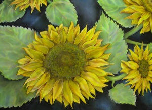 Sunflowers on Silk