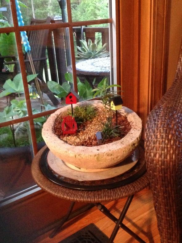 My Birdhouse Themed Mini Garden