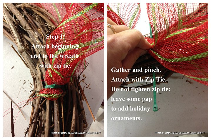 Three Easy Ways to Use Mesh Ribbon for Holiday Decorating (2/6)
