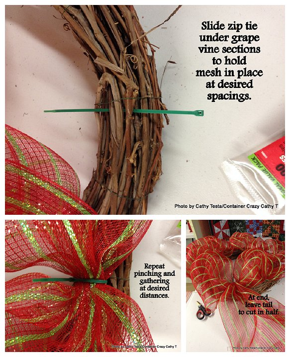 Three Easy Ways to Use Mesh Ribbon for Holiday Decorating (3/6)