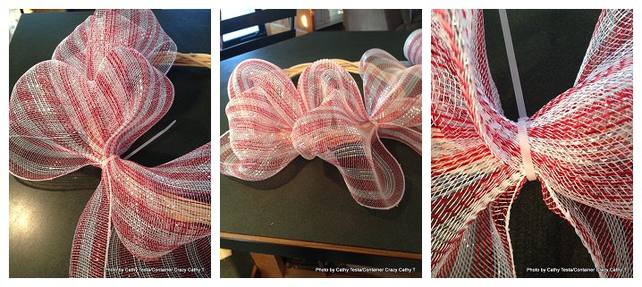 Using Zip Ties to attach Deco Mesh Ribbon to your Decorating Projects (3/6)