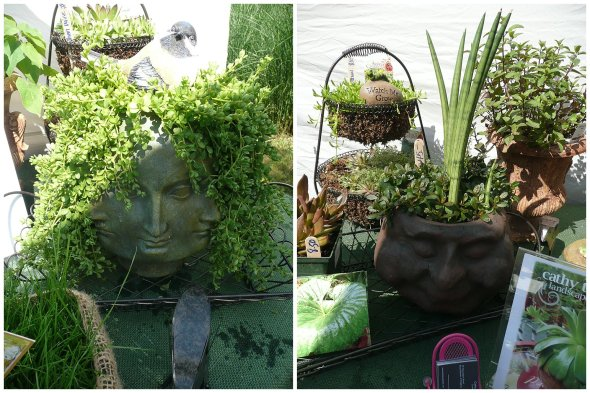 Cathy T's Head Planter Creations