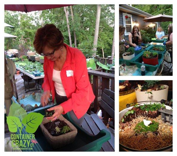 An Attendees Works on her Miniature Garden