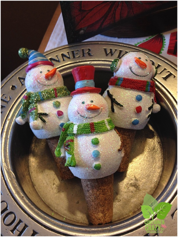 Snowmen Wine Stoppers - You know what these are for!