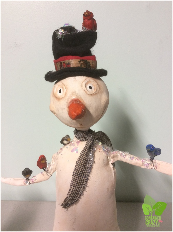 Adorable Snowman Art by Laura Sinsigallo