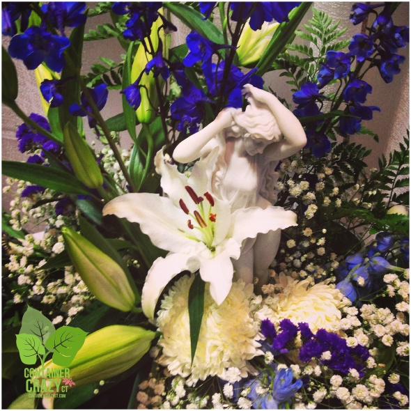 Beautiful Delphiniums with White Flowers