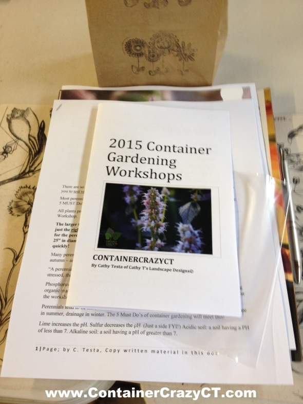 Each Attendees Receives Instructional Booklets and Plant Catalogues