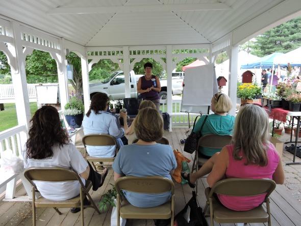 Cathy T teaching a class