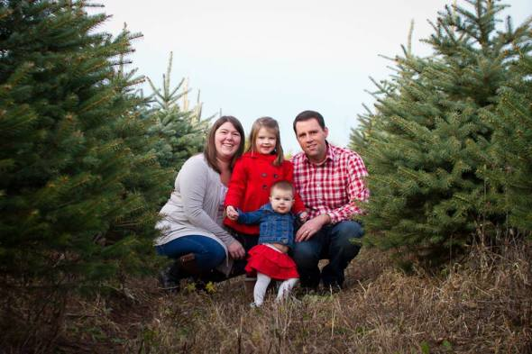 Jeff and Mandy Mayer with their children. Owner's of JEM's Horticulture and Design