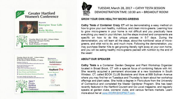Greater Hartford womens Conf Microgreens Demo by C Testa